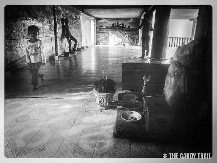 Kids at Ta Mok's Anlong Veng house Cambodia