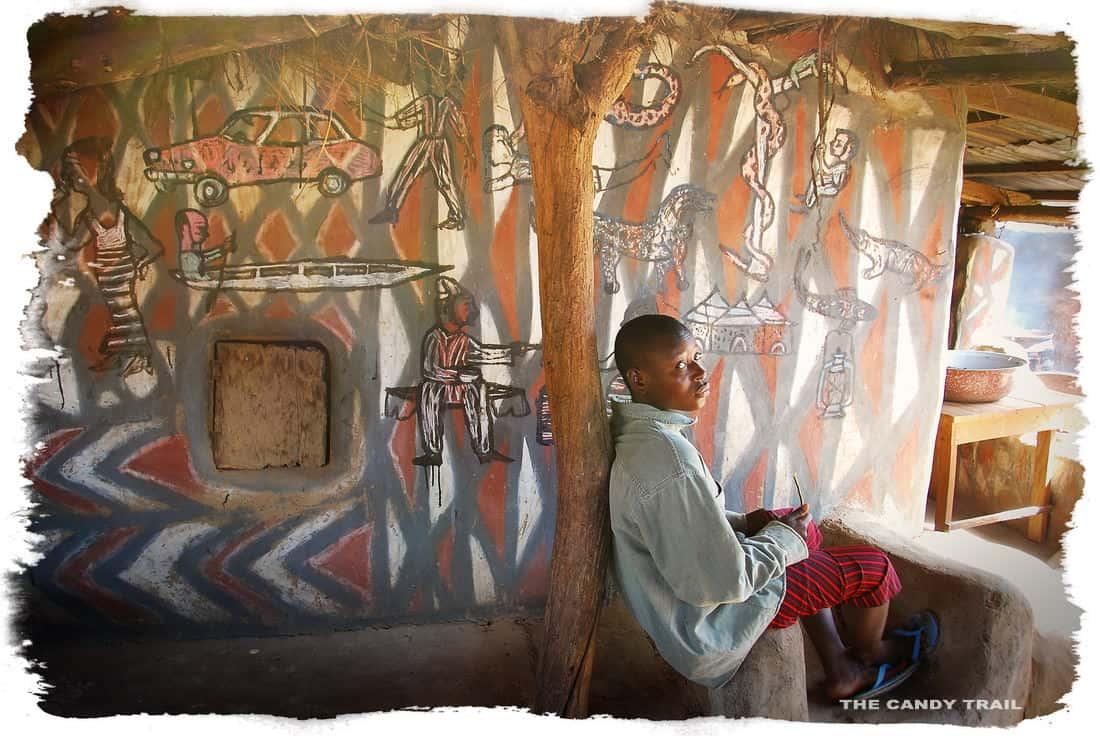 boy painted house sirigu ghana