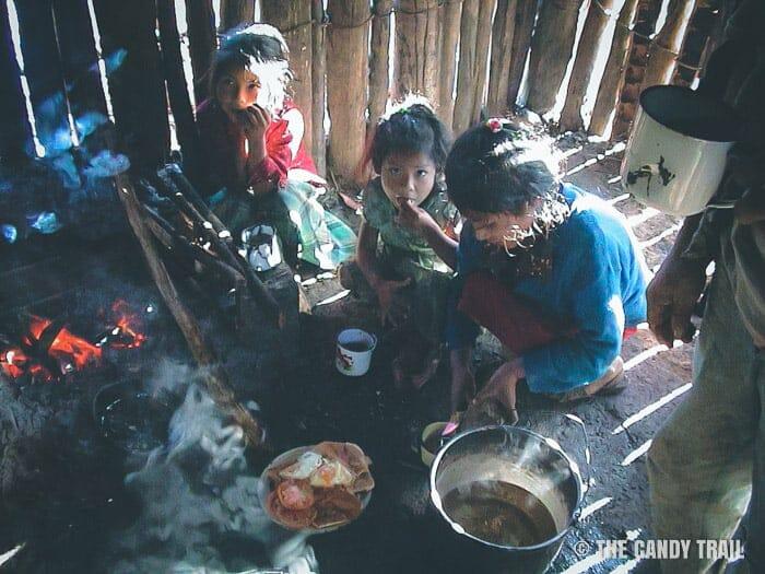 campesino cooking vilcabamba trek peru