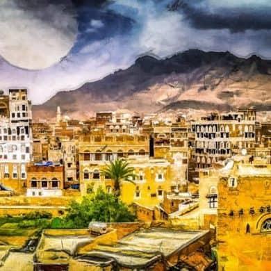 city-of-1001-nights-sanaa-yemen-art-by-michael-robert-powell