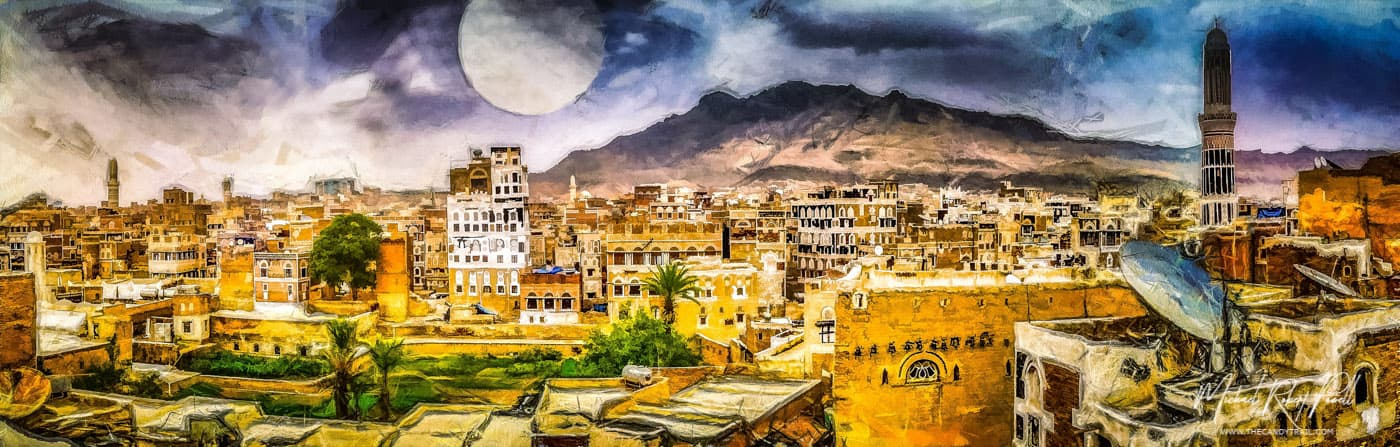 city-of-1001-nights-sanaa-yemen-art-by-michael-robert-powell