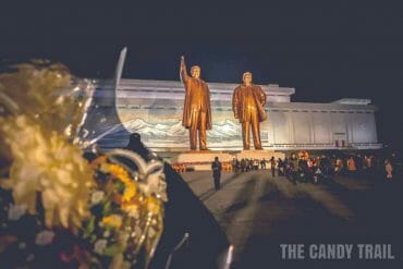 kim leader statues north korea