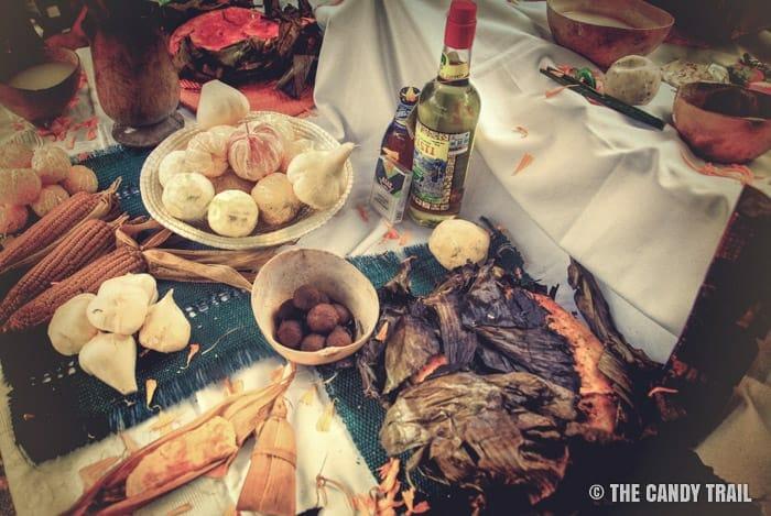 maya day of dead offerings