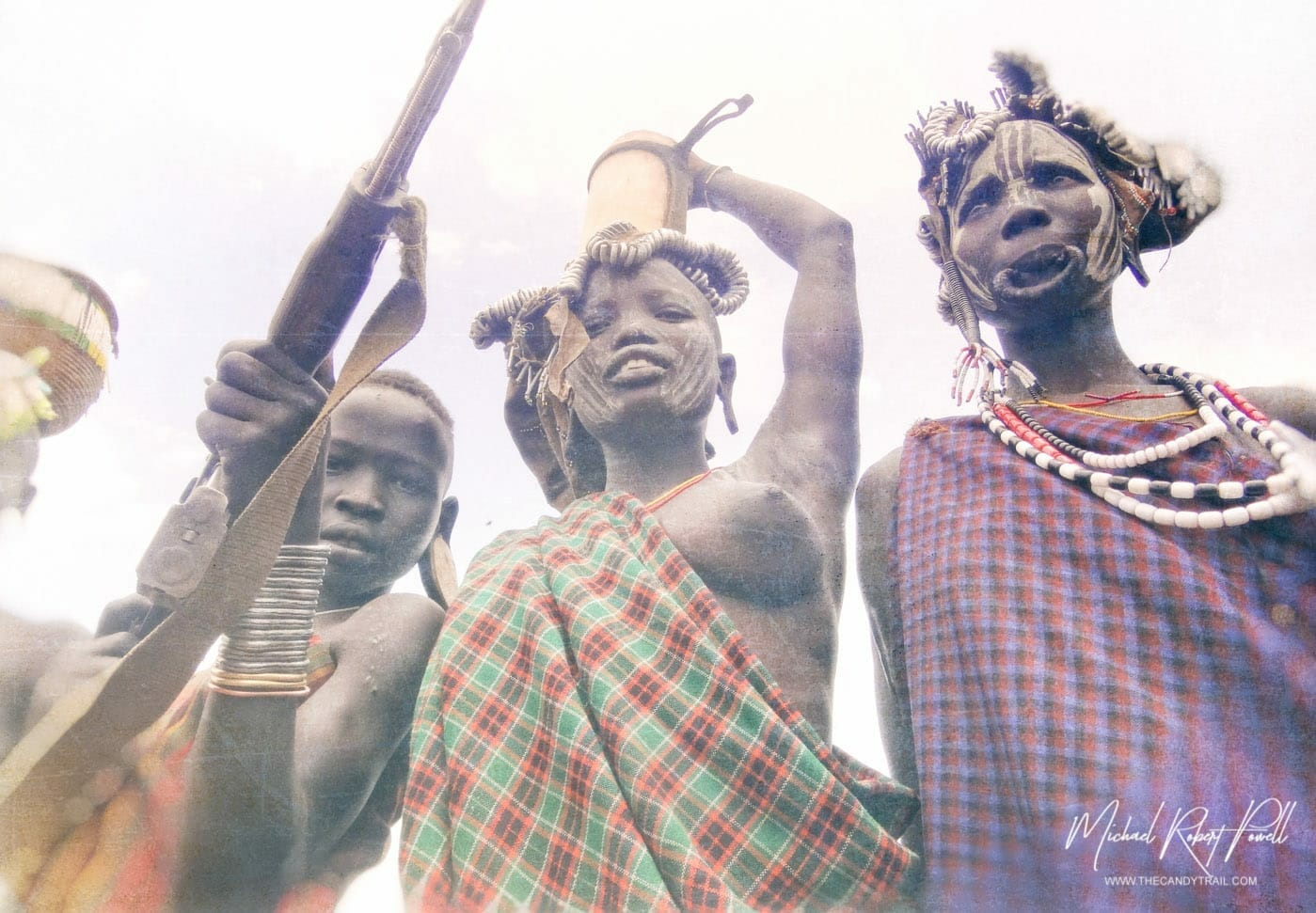 Mursi Tribe Traditions Modeling For Gun Money In Ethiopia