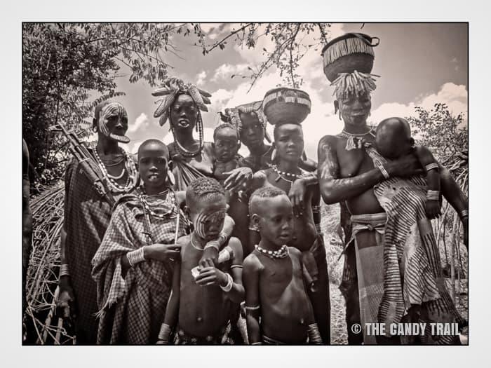 mursi tribe family photo ethiopia