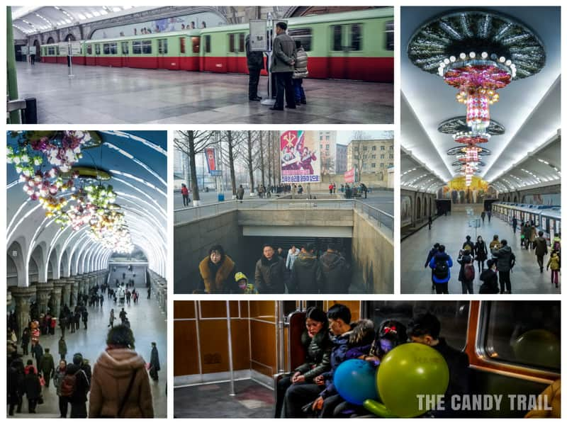 Traveling the subway in Pyongyang – North- Korea