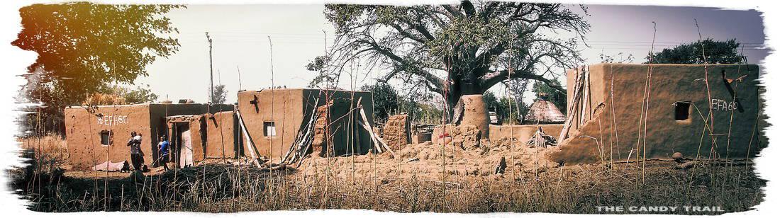 sirigu village house broken compound wall ghana