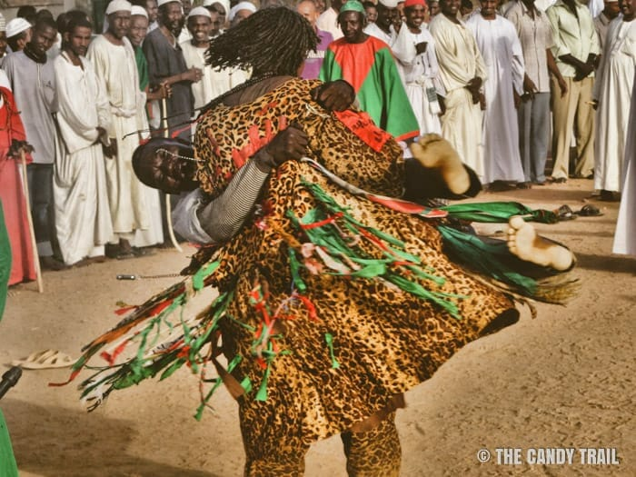 sufi carries spectator amid dance sudan