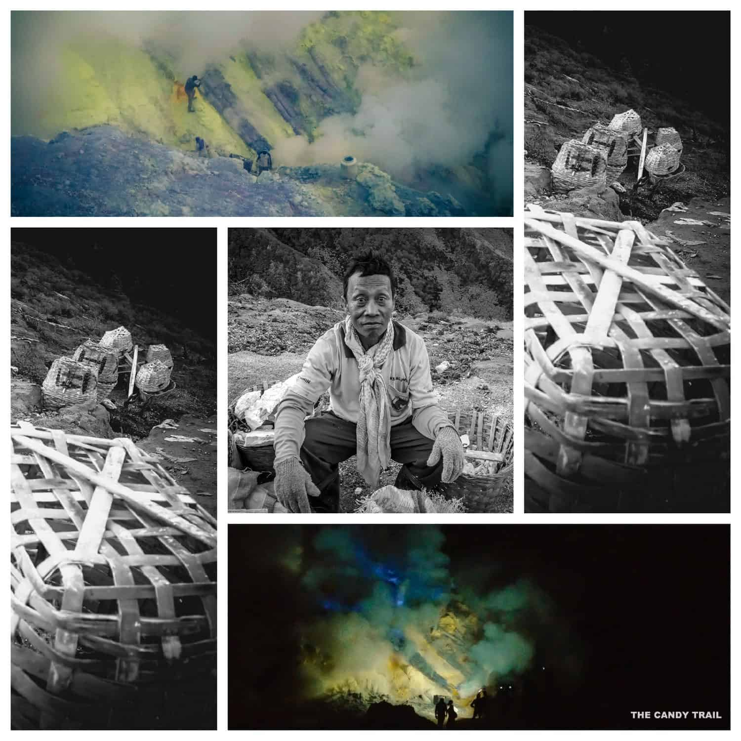 baskets and sulfur-worker-ijen-volcano-indonesia kawah ijen