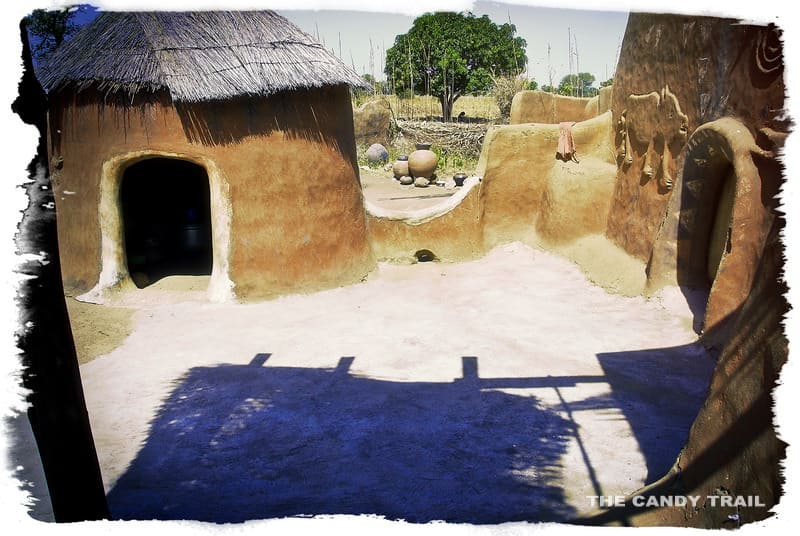 compound painted village ghana