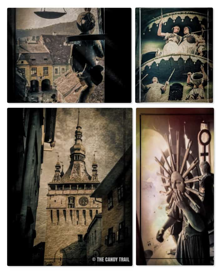 sighisoara clock tower features