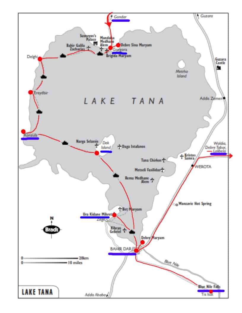 map of lake tana boat trip