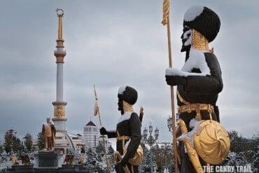 independence monument ashgabat turkmenistan
