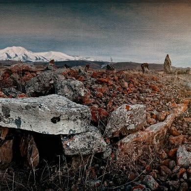 Zorats Karer Stone Circle Armenia Mountain Panorama