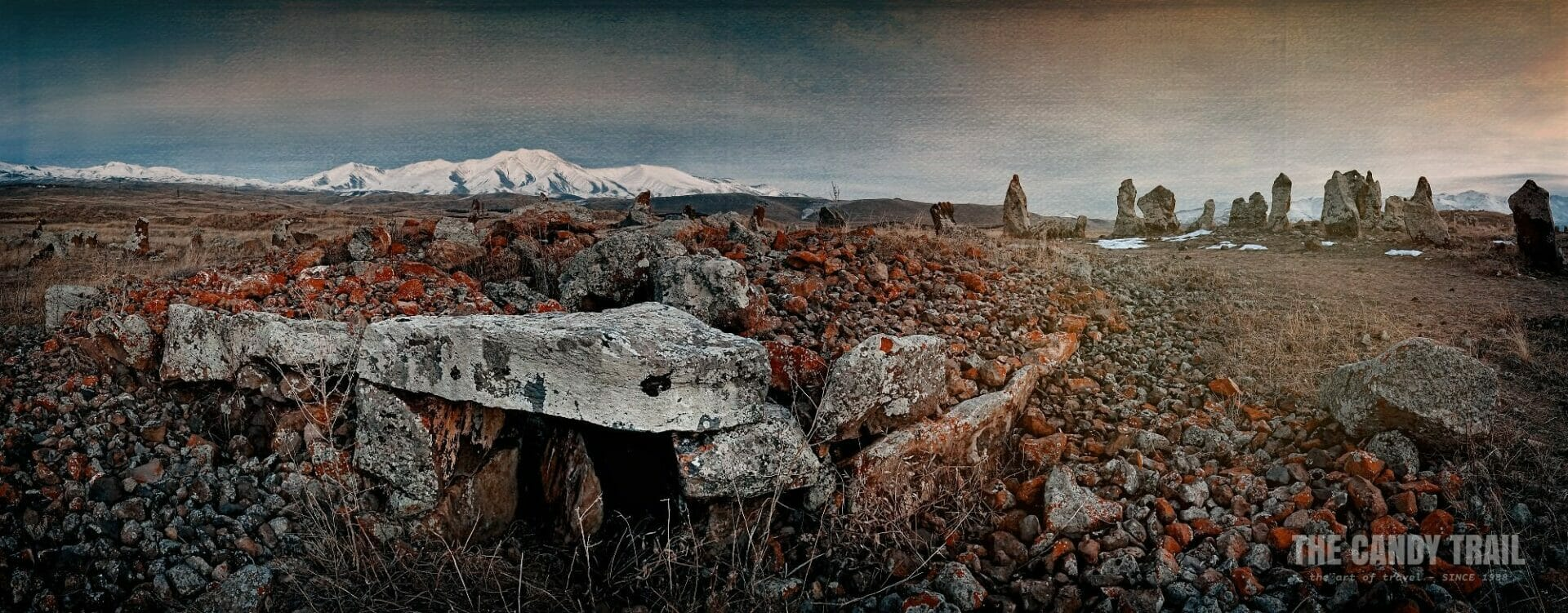 Zorats Karer Stone Circle Armenia Mountain Panorama