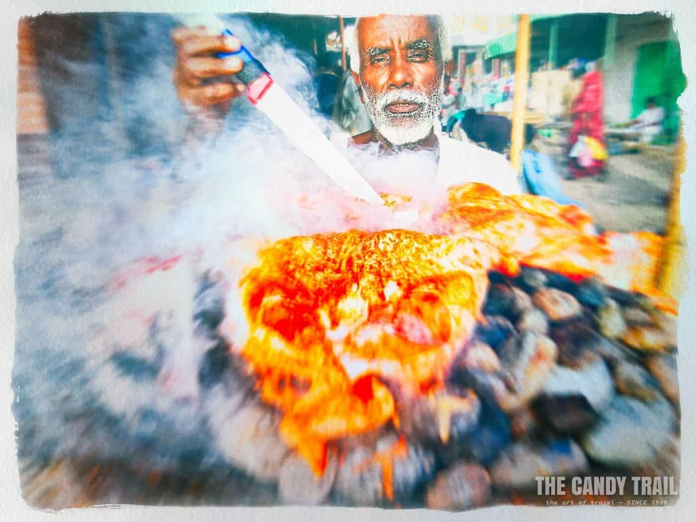 bbq chicken vendor kassala market sudan