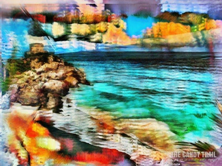 tulum ruins coast mexico