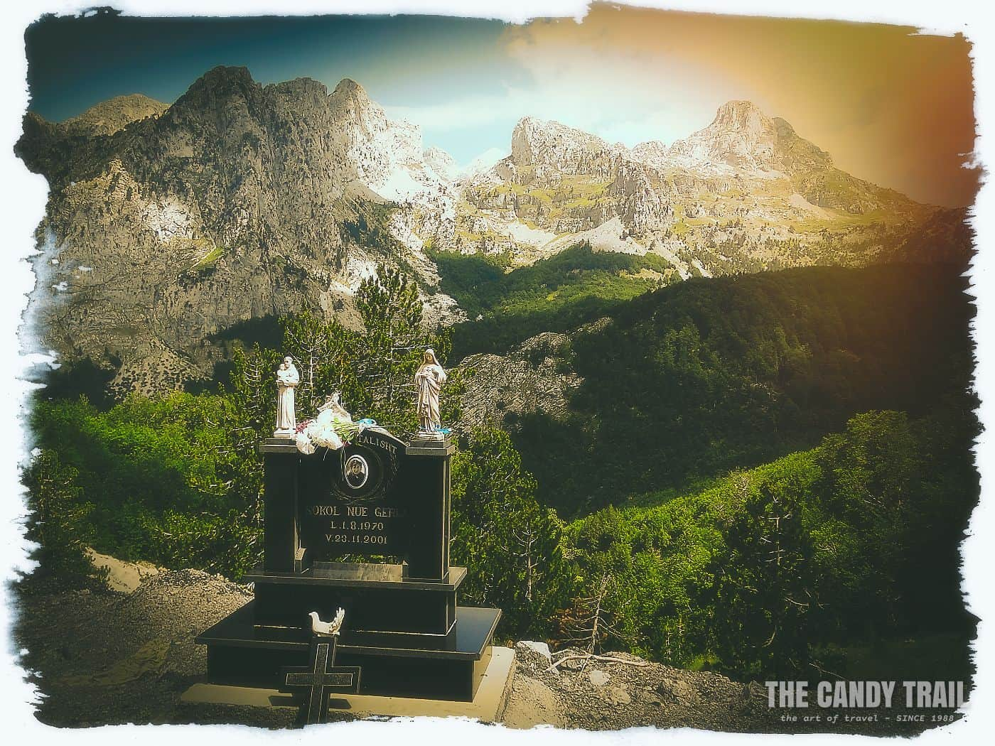 road accident memorial theth mountain road albania