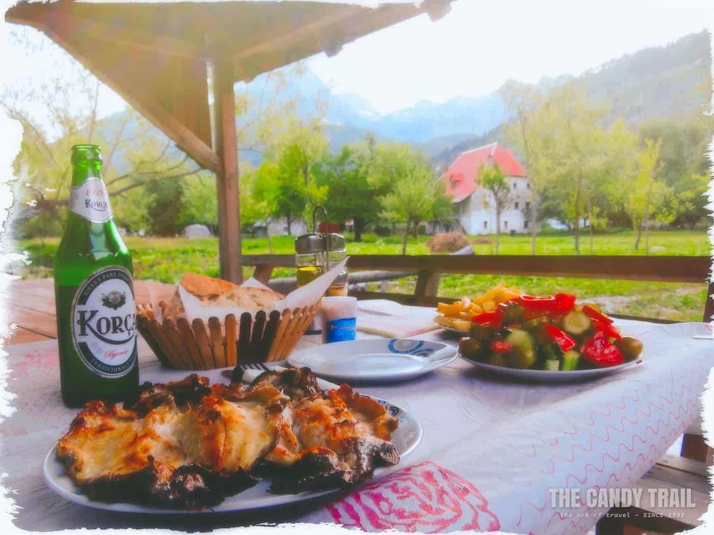 fish-beer-meal-valbone-albania