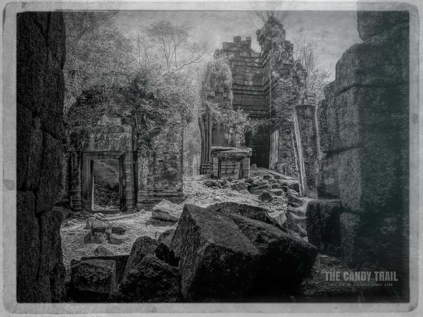 Ruined Prasat Banteay Pir Chean Temple Cambodia