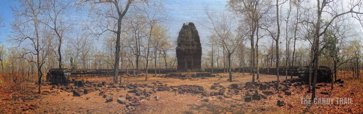 Lonely Prasat Neang Khmau Temple Koh Ker Cambodia