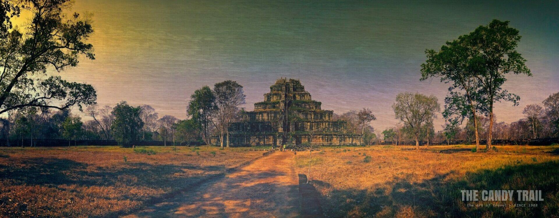 Panorama Morning Pyramid Prasat Thom Koh Ker Temples Cambodia