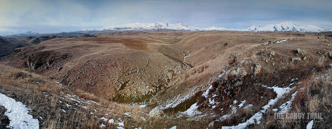 Zorats Karer Valley Armenia Panorama