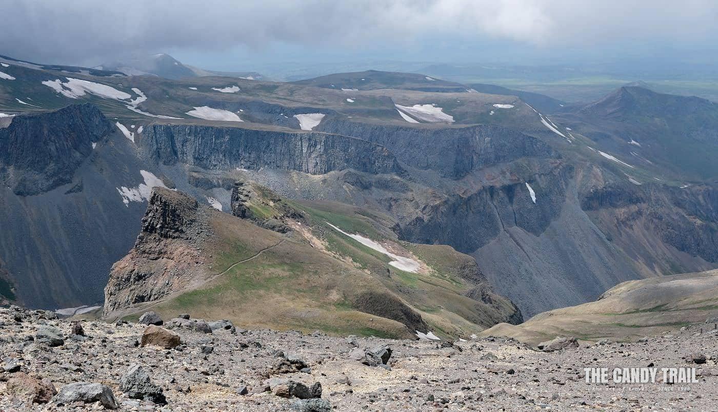 Changbai mountain volcano Slopes