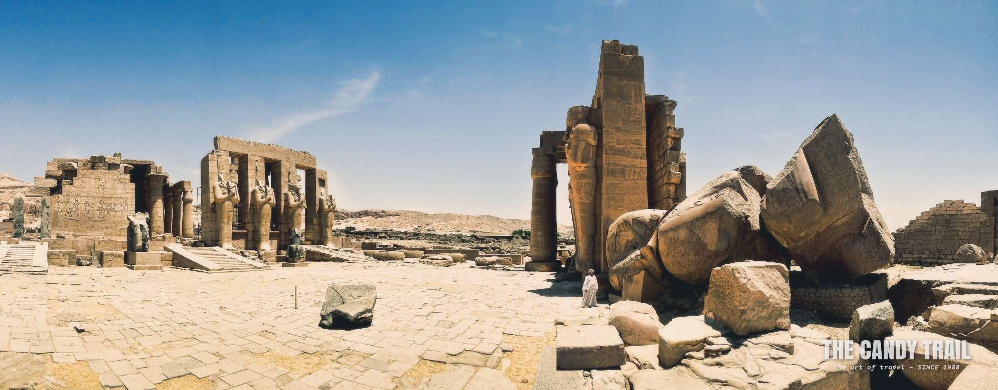 Ramesseum Temple Ruins Panorama Luxor Egypt