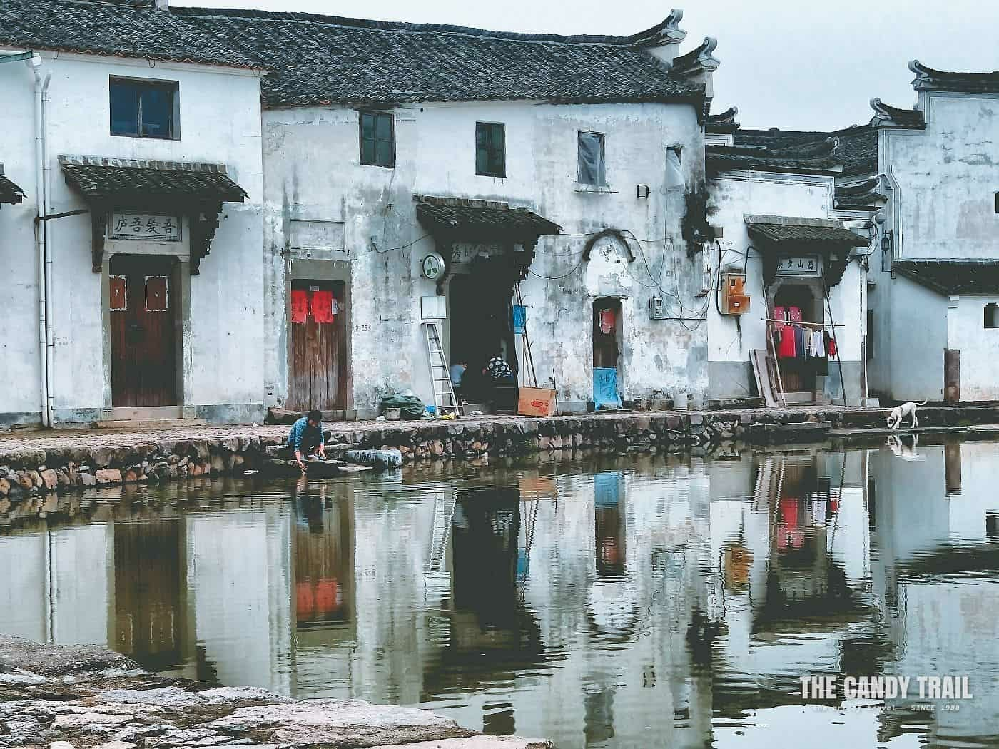 Woman Washing Clothes Xinye Village China
