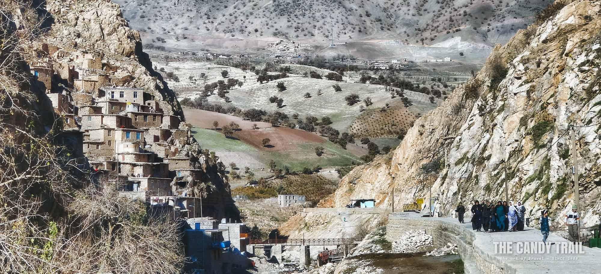 Palangan Village Panorama Kurdistan Iran
