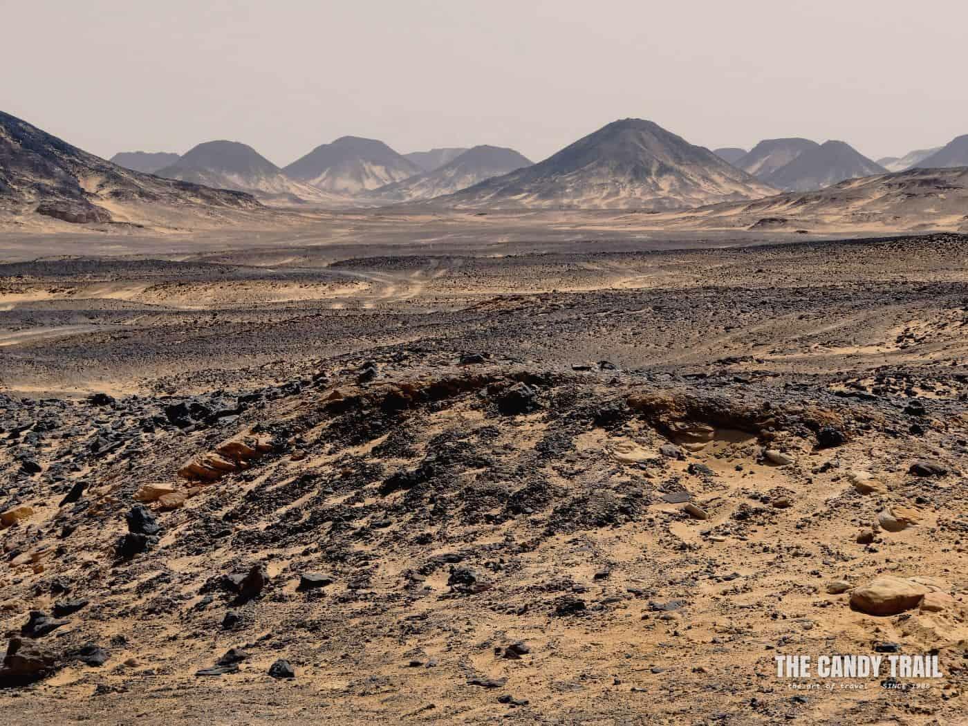 black desert rock hills western egypt