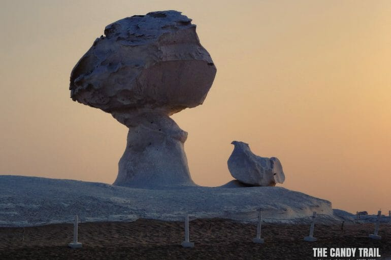 chicken shaped rock white desert egypt