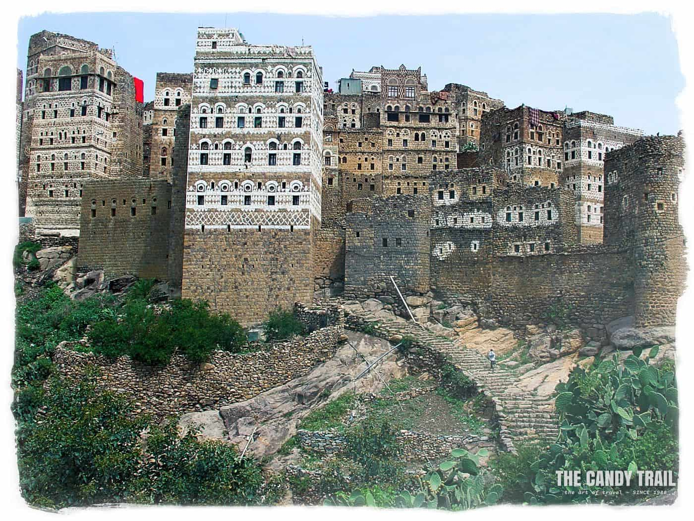 Al Hajjarah village walls.
