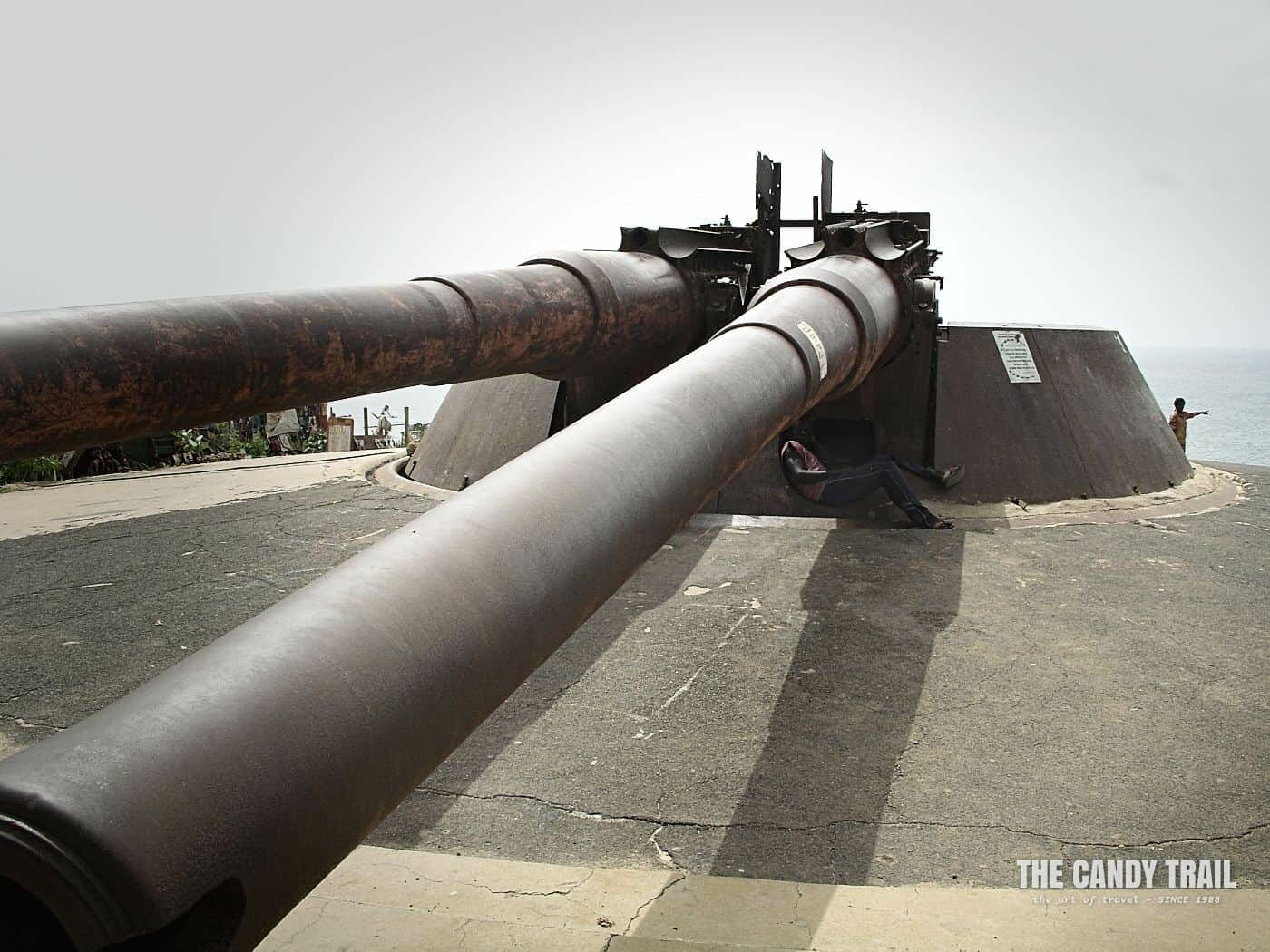 Gun battery on Goree Island