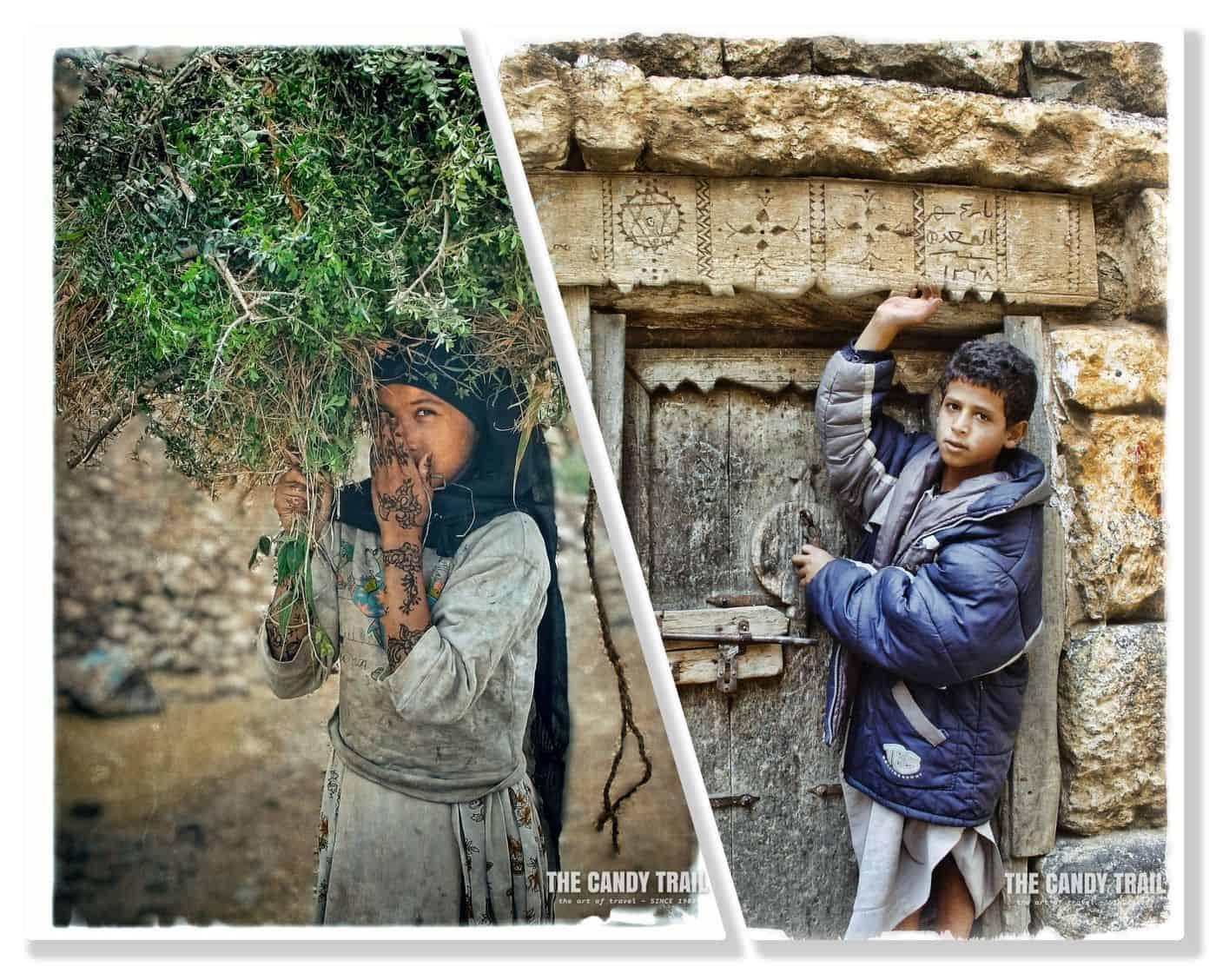 haraz mountain children yemen