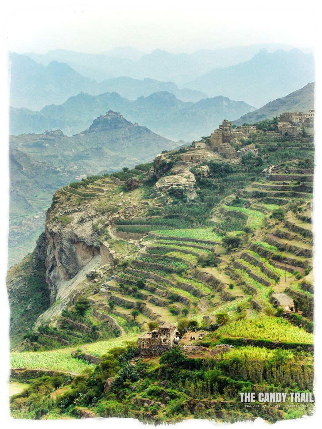 village in Haraz mountains of Yemen