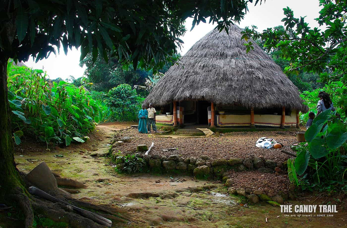 kids traditional house conial roof doucki guinea