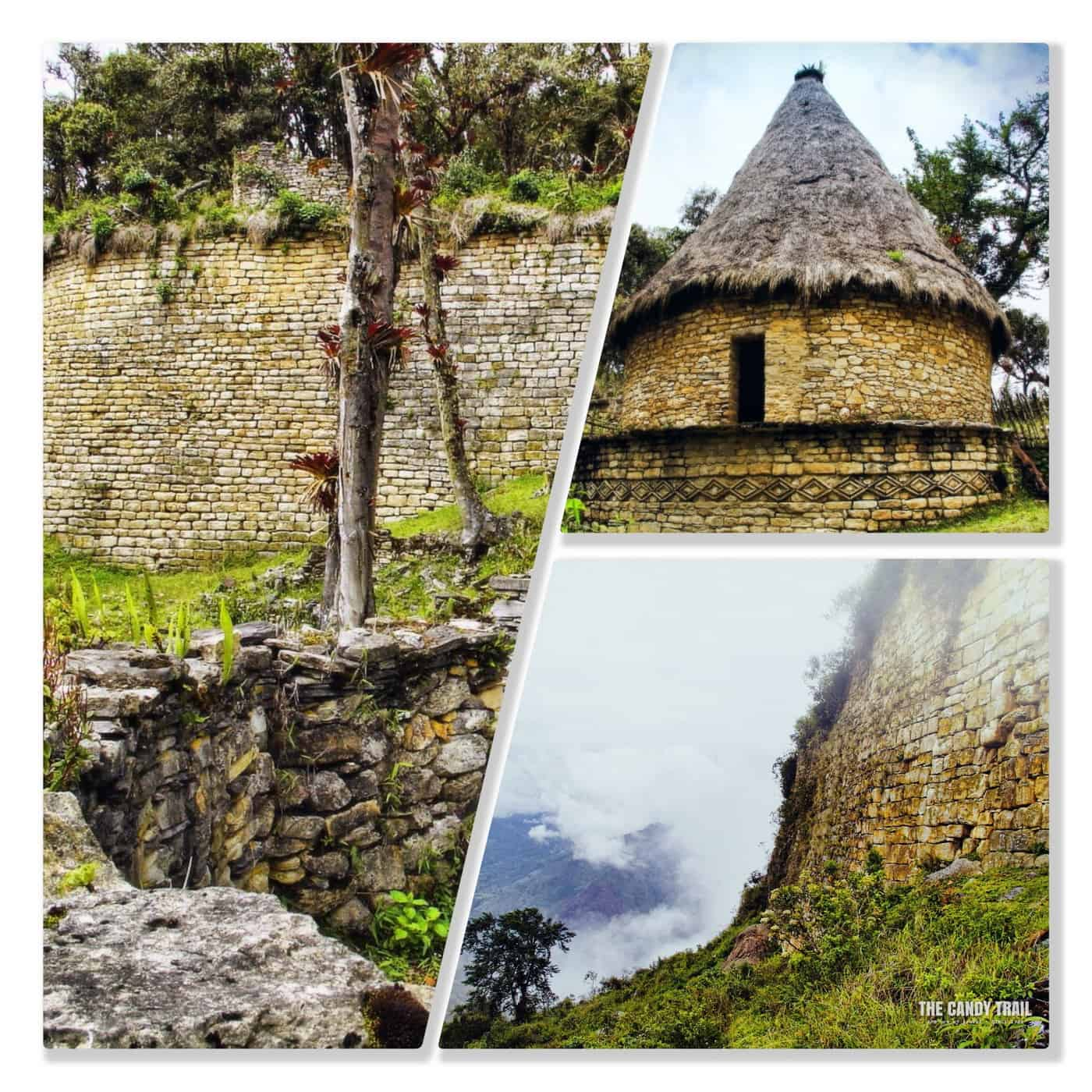 kuelap house wall ruins chachapoyas peru