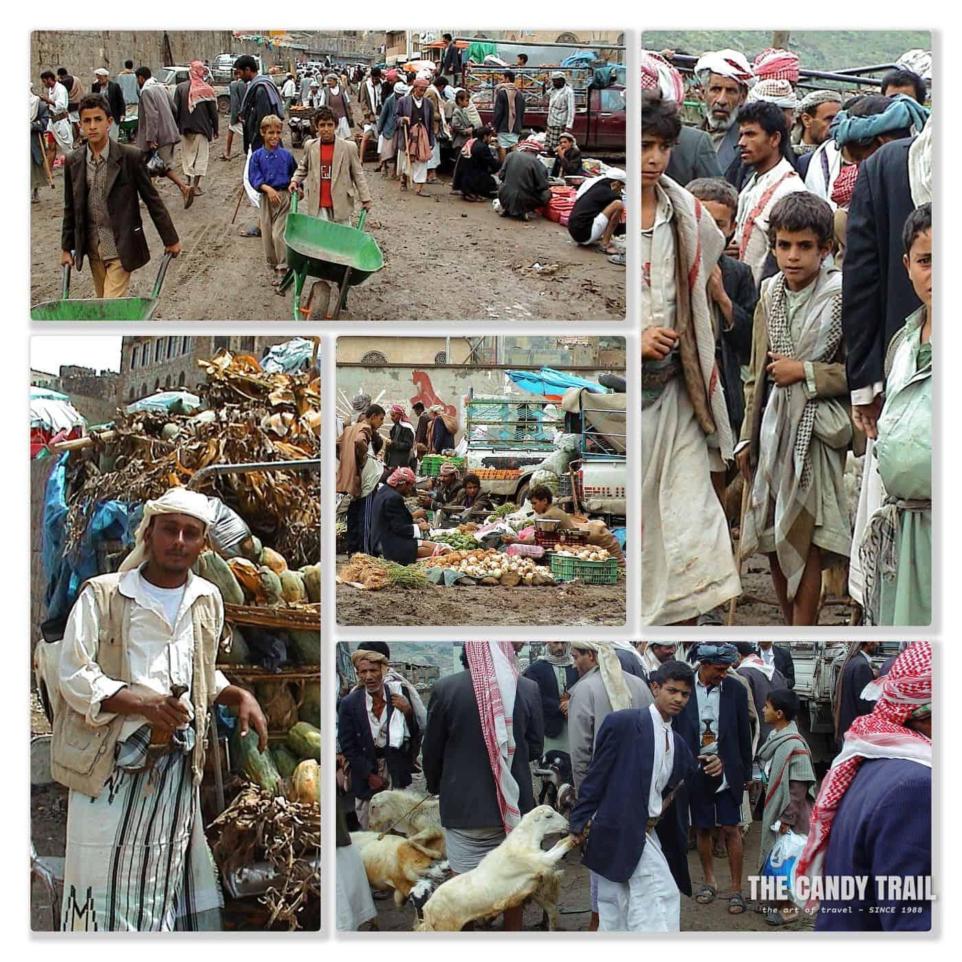 scenes at Manakhah market haraz mountains of yemen