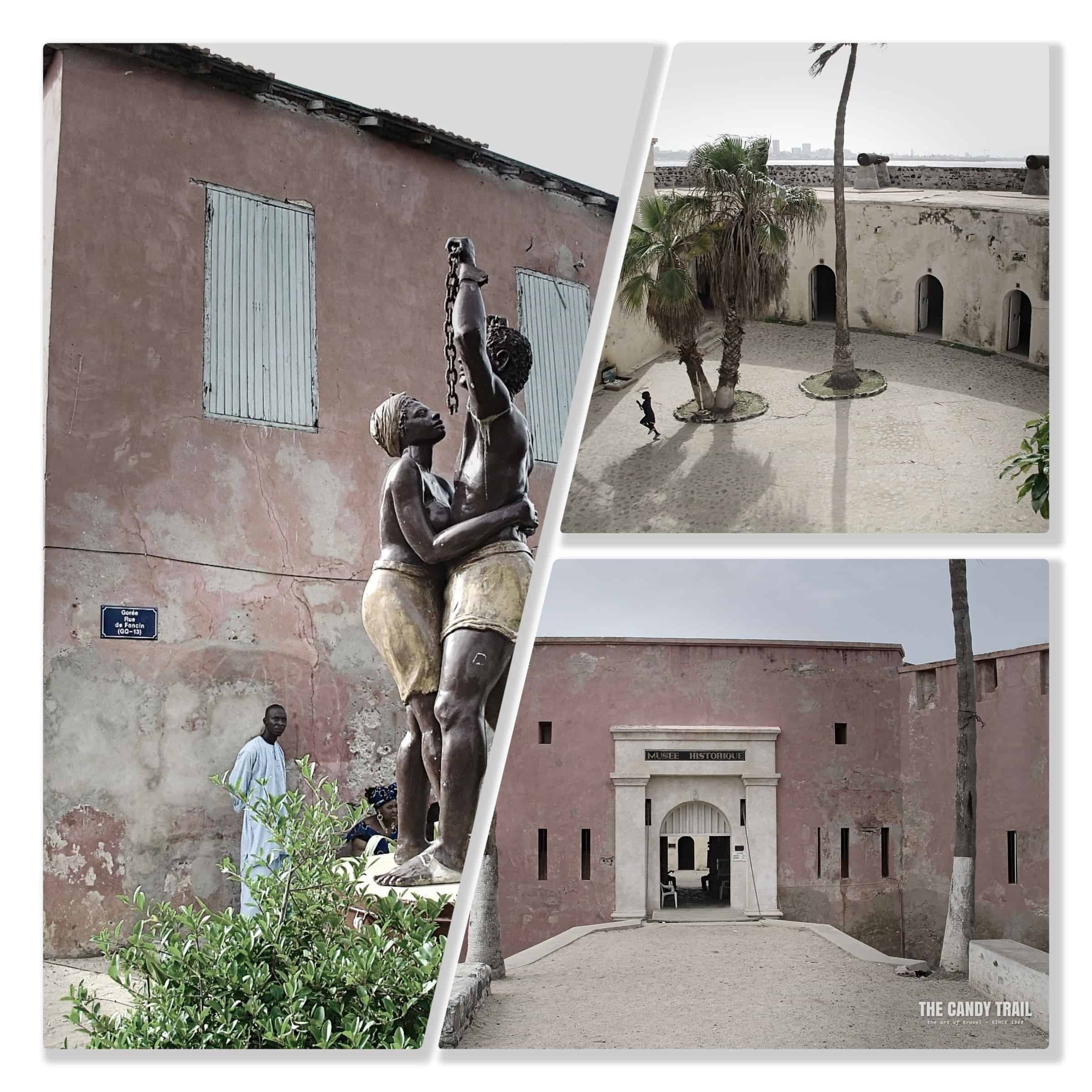 Slave legacy sites on Goree Island.