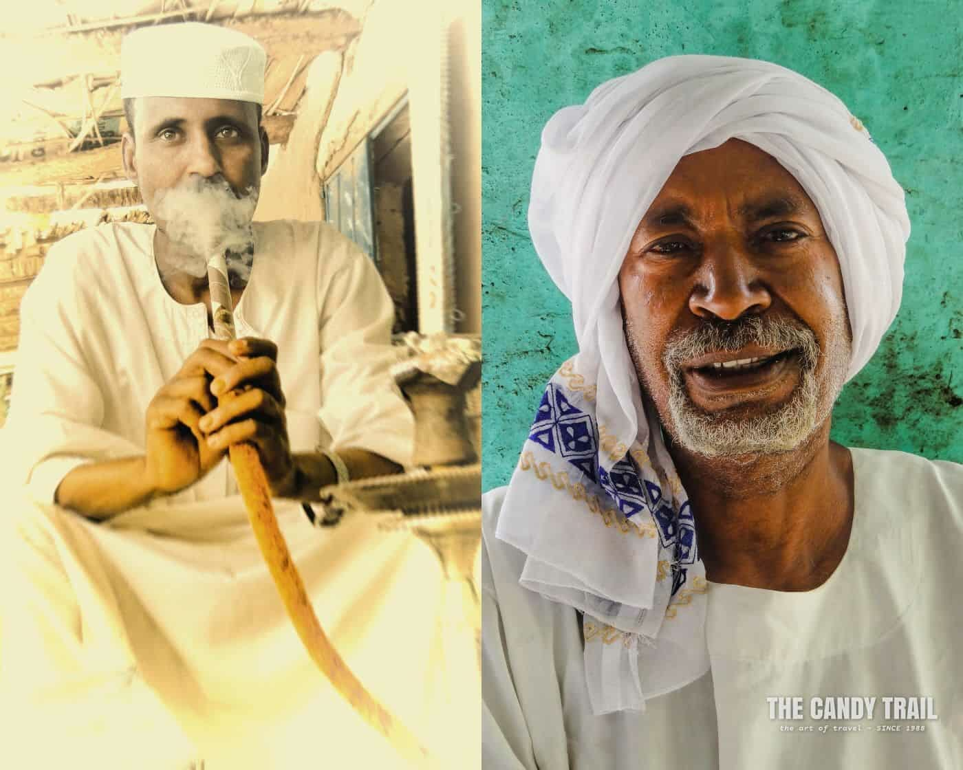traditional-men-smoking shesha-sudan