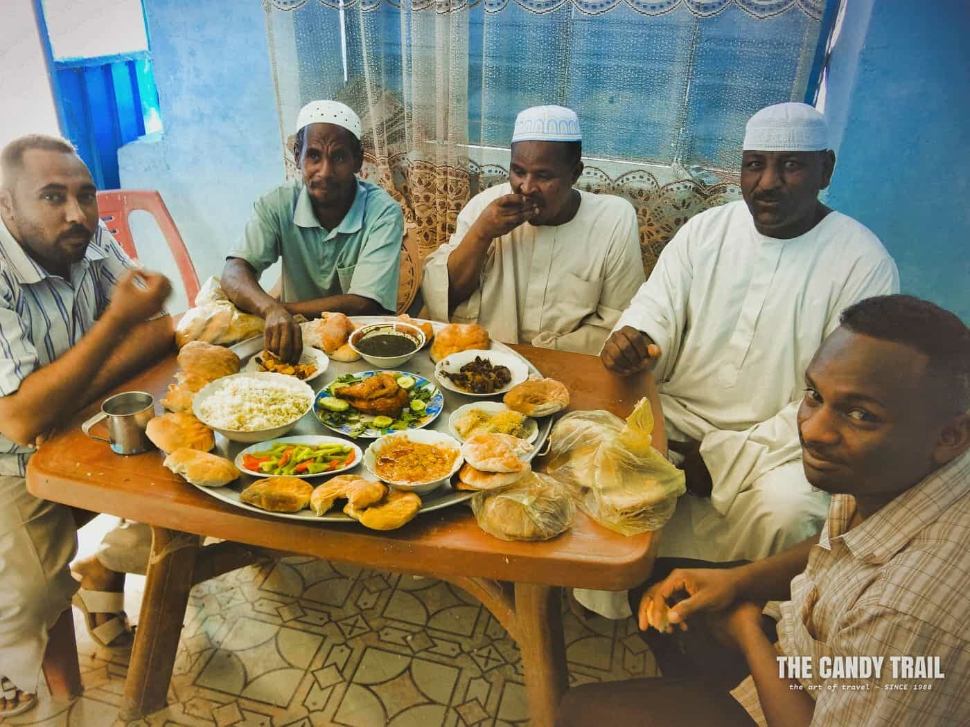 wedding reception meal at dongola sudan