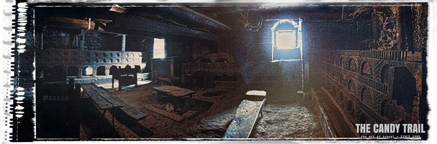 interior of ancient svan house mestia georgia
