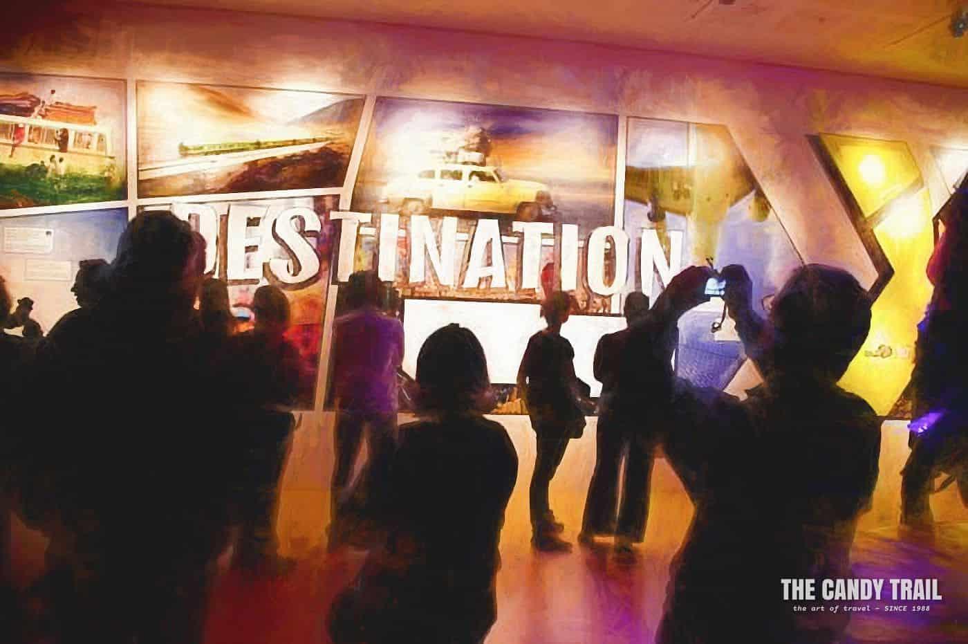 public at Destination X exhibition at Museum of World Culture Gothenburg Sweden