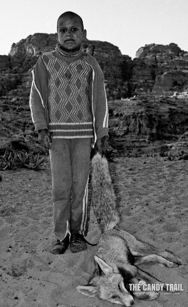 boy with dead fox petra jordan 1989