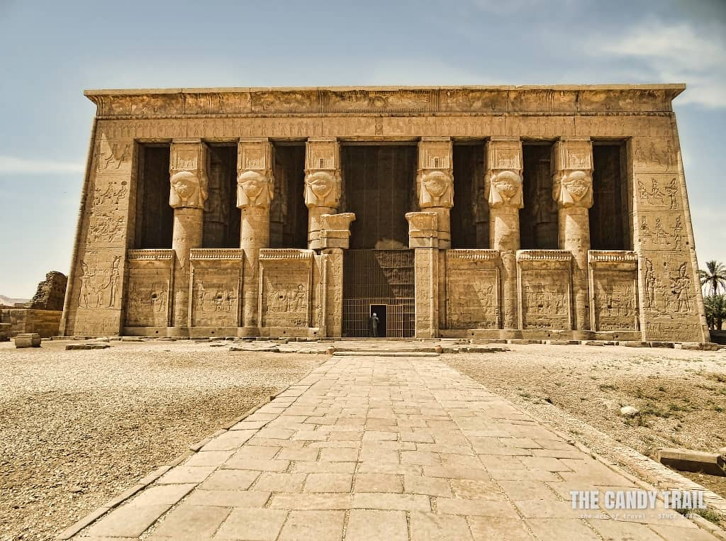 The approach to the Hathor Temple in Dendara.