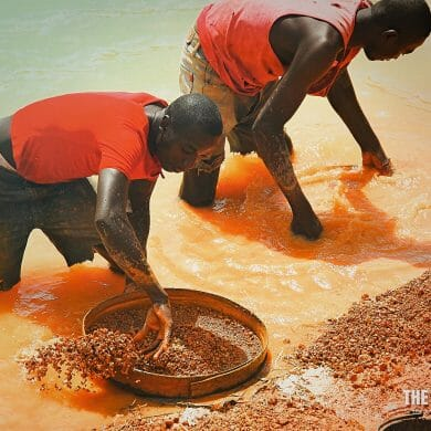 mining diamonds by hand kono sierra leone