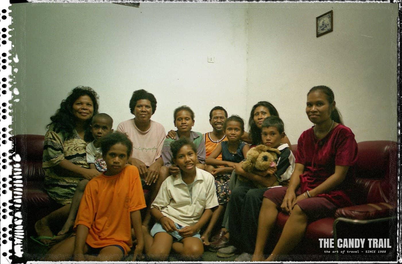 papuan family sarong indonesia 1999