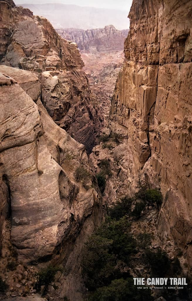 rugged mountain canyon surrounds of petra